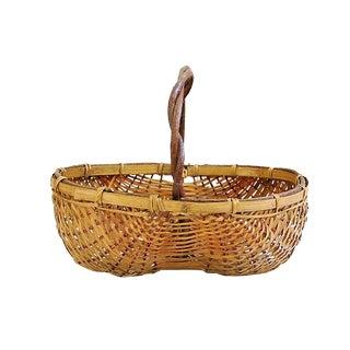 Vintage Woven Buttocks Basket