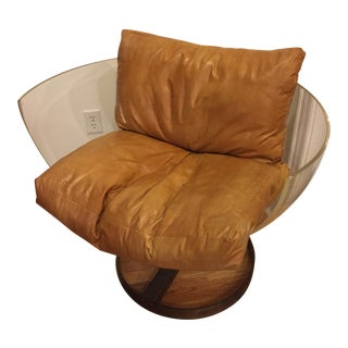 Vintage Swivel Lucite Chair