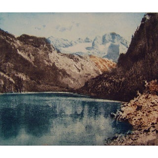 Mountain Lake Etching