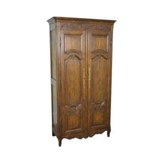Baker French Louis XV Style Large Armoire Cabinet