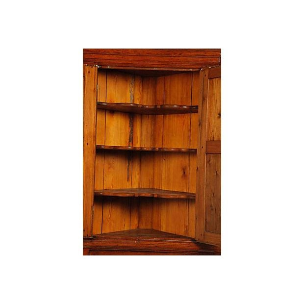 Image of 18th-Century Chippendale Period Corner Cupboard