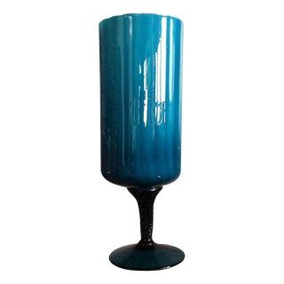 Teal Askew Cylinder Goblet