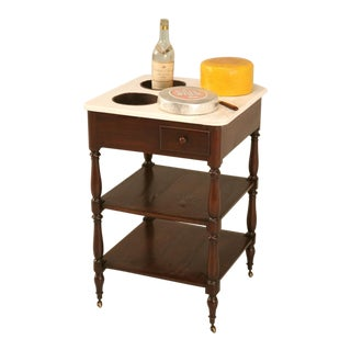 Antique French Mahogany Rafraichissoir (Refresher), circa 1920s