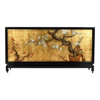 Chinoiserie Mid-Century Modern-style Credenza