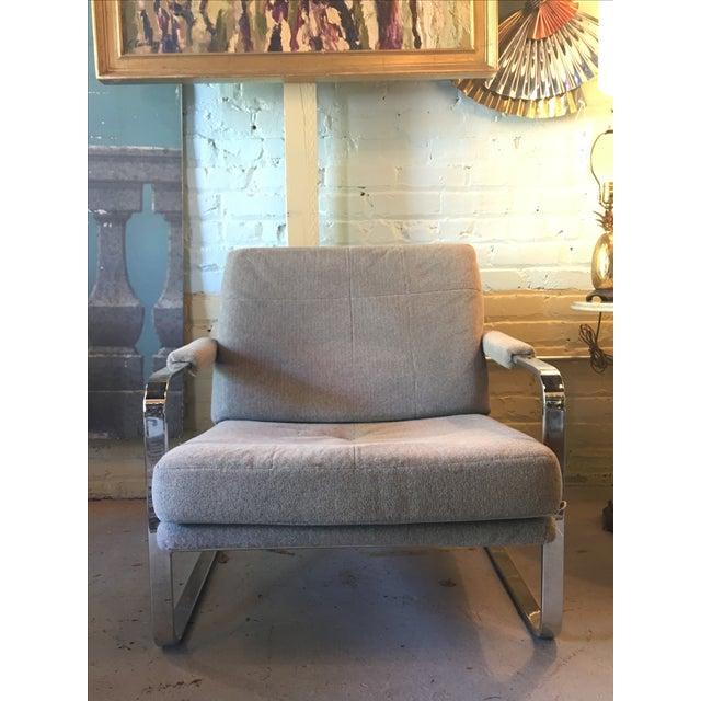 Milo Baughman-Style Chrome Chair - Image 2 of 4