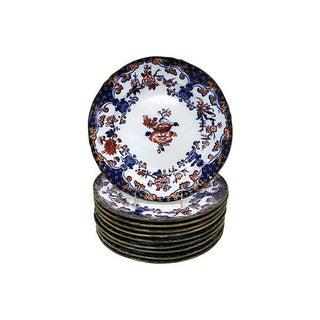 Antique Minton's Ironstone Dinner Plates - S/10