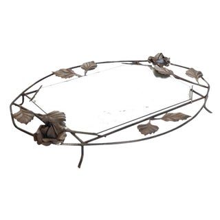 Wrought Iron Mirrored Tray