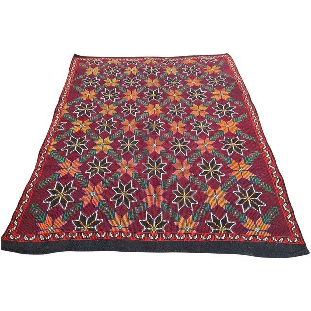 VINTAGE Handwoven Turkish Kilim Rug - Image 1 of 6