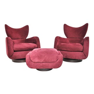 Vladimir Kagan Swivel Lounge Chairs