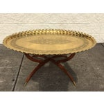 Image of Round Brass Tray Top Coffee Table