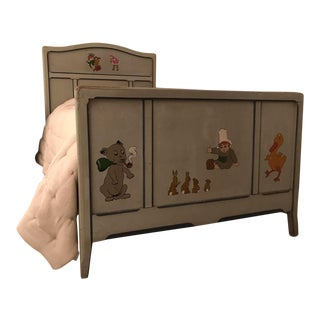 Children's Antique French Bedroom Furniture Set - Bed (1 of 3 Pieces)