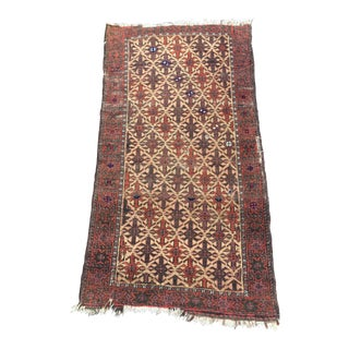 """Antique Hand Knotted Persian Baluch Scatter Rug - 2'4"""" x 4'4"""""""