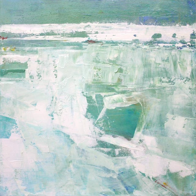 Original Abstract Beach Painting - Image 2 of 4
