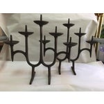 Image of Danish Modern Cast Iron Candle Holder