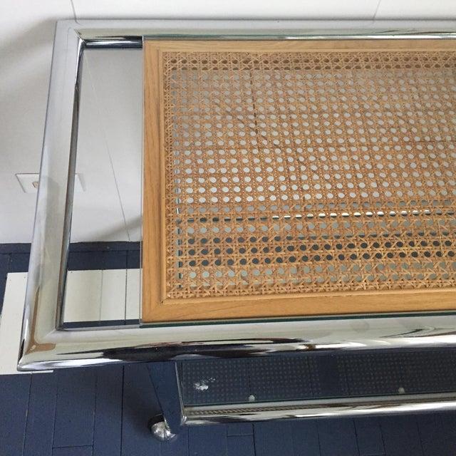 1970 Milo Baughman Rolling Bar Cart - Image 4 of 5