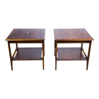 Constellation Walnut & Metal Tables - A Pair