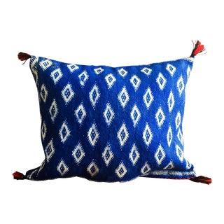 Cobalt & White Moroccan Wool Pillow