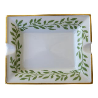 Leaf Patterned Limoges Ashtray