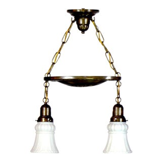 2 light pan fixture with canopy