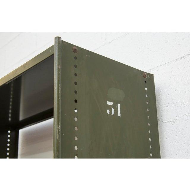 Industrial Military Sheet Metal Bookshelf - Image 9 of 10