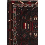 """Image of Vintage Balouch Area Rug - 3'0"""" X 4'7"""""""