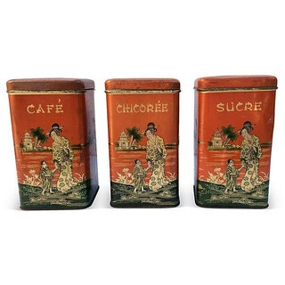 Chinoserie Coffee Canisters - S/3
