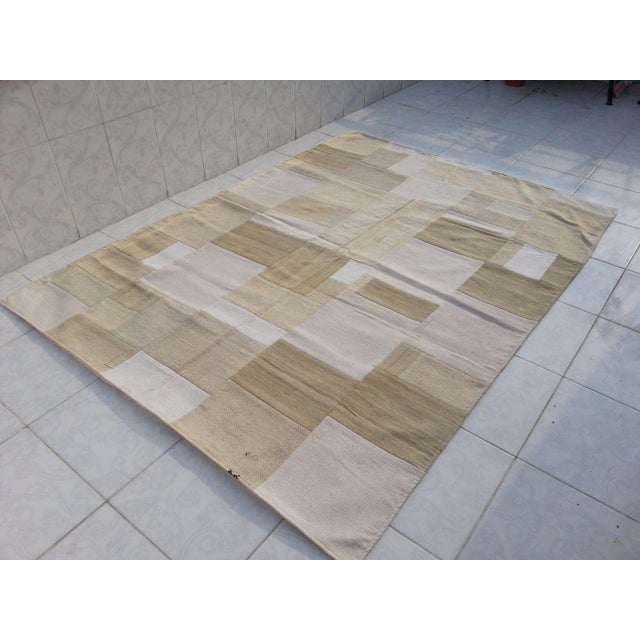 """Bohemian Patchwork Rug -- 5'6"""" x 7'6"""" - Image 4 of 6"""