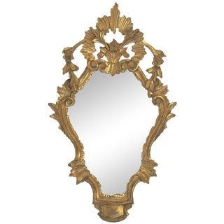 Antique Italian Hand-Carved Gilt Wood Mirror