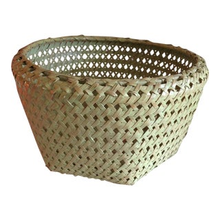 Chartreuse Woven Basket