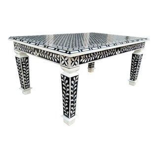 Bone Inlay Hand Crafted Coffee Table