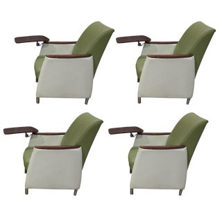 Lounge Chairs With Tablet Arms - Set of 4