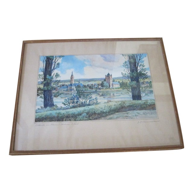 Zimmermann Vintage German Landscape Print - Image 1 of 11
