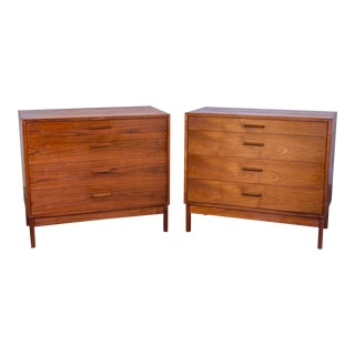 Pair of Mid-Century Modern Walnut Dressers