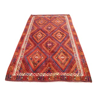 Vintage Turkish Kilim Rug - 5′3″ × 9′6″