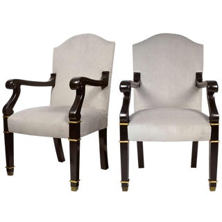 Pair of French Restoration Armchairs
