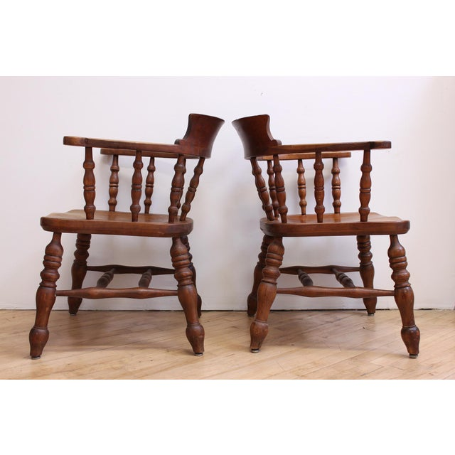 L & JG Stickley Colonial Cherry Valley Captain's Chairs - A Pair - Image 5 of 7