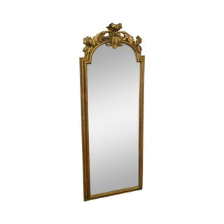 LaBarge French Louis XV Style Gilt Frame Elongated Wall Mirror