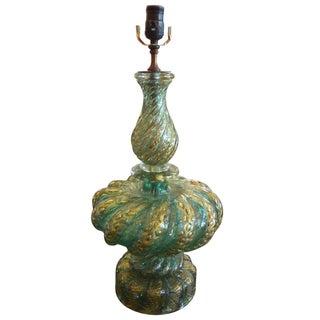 Murano Glass Table Lamp by Seguso