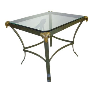 Maison Jansen Style Mixed Metal End Table