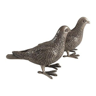 Chinese Silver Birds - A Pair