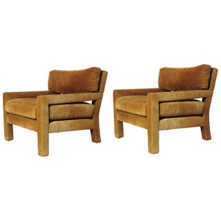 Caramel Lounge Chairs by Milo Baughman- A Pair