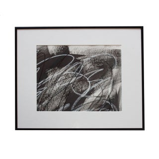 Small Framed Black Abstract Painting