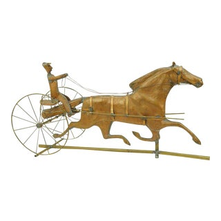 A Copper and Brass Horse and Sulky Weathervane, Great Piece of Folk Art