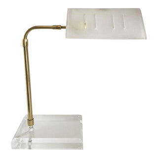 Bauer Lucite & Brass Desk Lamp