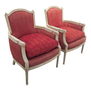 1940's A Mazor Art Deco Bergere Chairs - A Pair