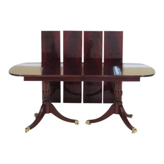 Kindel Flame Mahogany Duncan Phyfe Dining Room Table