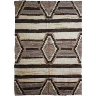 "Hand Knotted Navajo Rug - 9'10"" x 8'3"""