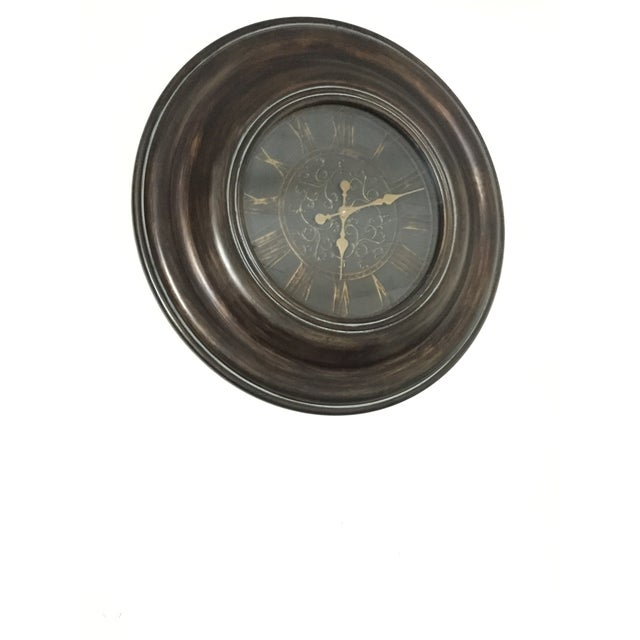 Image of Bronze Finish Traditional Wooden Clock