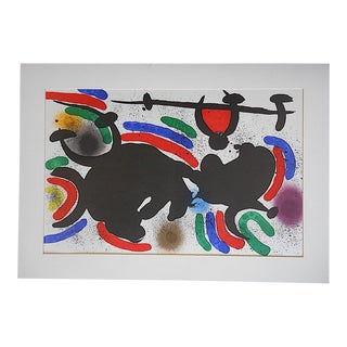 Large Vintage Ltd. Ed. Joan Miro Lithograph-Original Design