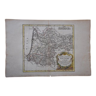 18th C. Antique French Basque Country Map